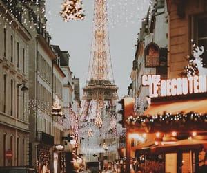 city, paris, and light image