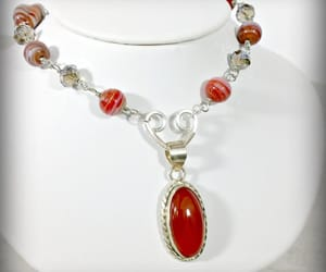 beaded necklace, birthday gift, and fall necklace image