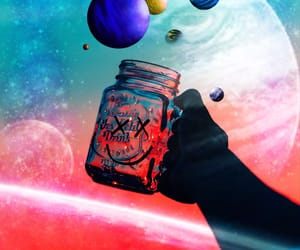 art, astronomy, and psychedelic image