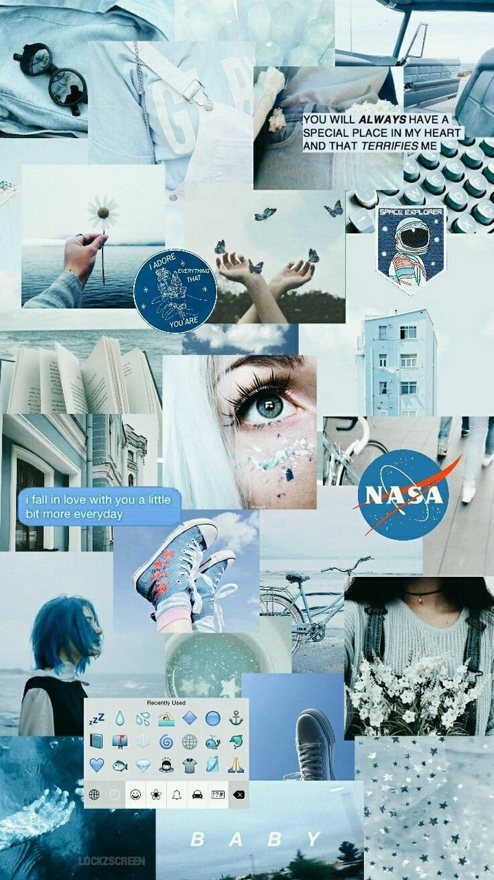 Blue Collage Wallpaper Laptop