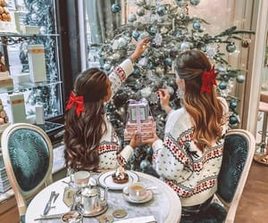 christmas, girls, and friends image