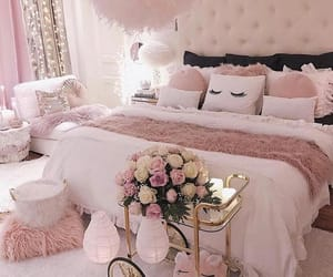 pink, cute, and bed image