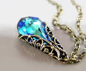 blue, necklace, and crystal image