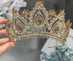 bling, crown, and gold image