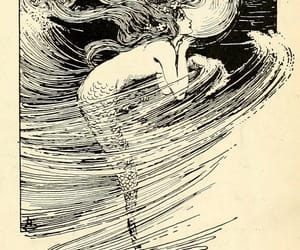illustration and mermaid image