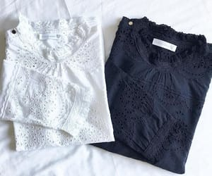 embroidery, eyelet, and ruffles image