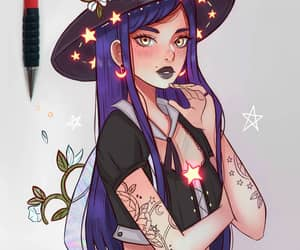 moonflower and witch image