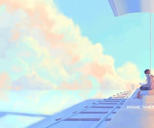 2d animation, clouds, and colors image
