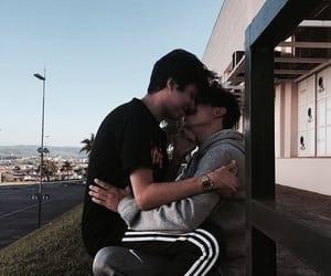 gay, boys, and kiss image