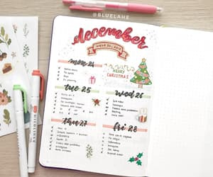christmas, notes, and planner image