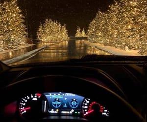 christmas, car, and light image