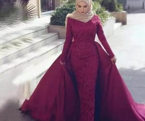 dress, gown, and modest image