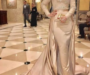 dress, evening gown, and modest gown image