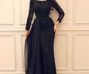 black dress, modest, and modest dress image