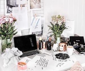 study, desk, and home image