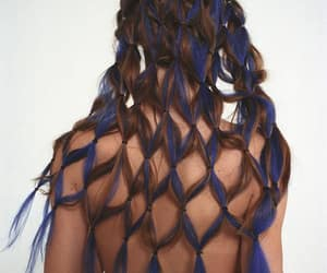 blue, brown, and hair image