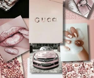girly, pink, and gucci image
