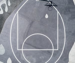 aerial view, gray, and Basketball image