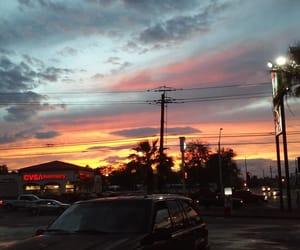 sky, sunset, and vegas image