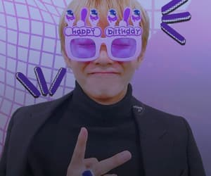 icon, purple, and taehyung bts image