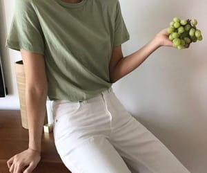 clothes, minimalism, and fruit image