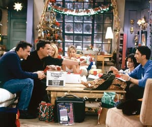 friends, christmas, and tv show image