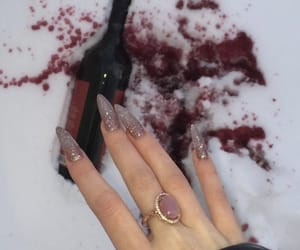 nails, tumblr, and wine image
