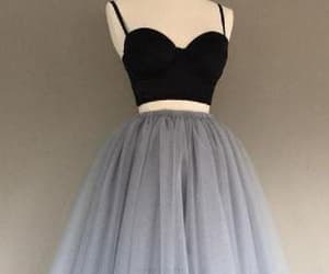 prom dress, black homecoming dress, and two pieces prom dresses image