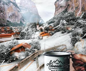 coffee, new year, and snow image