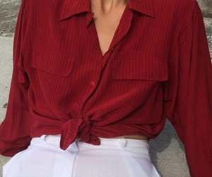 fashion, red, and style image
