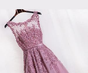prom dresses, lace prom dress, and pink prom dress image