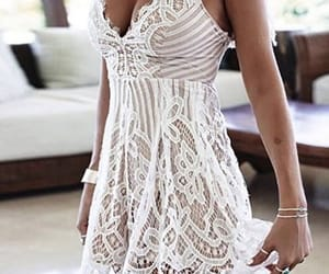 accessories, dress, and white image