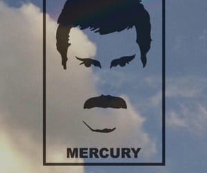clouds, Freddie Mercury, and Queen image