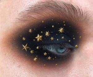 makeup, eyes, and stars image