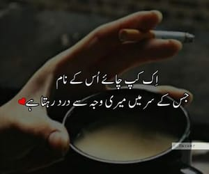 cup of tea, urdu, and poetry image