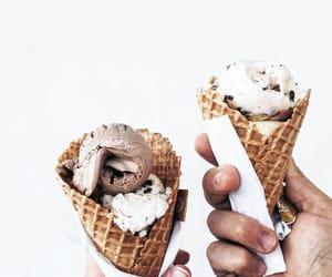 ice cream, sweet, and food image