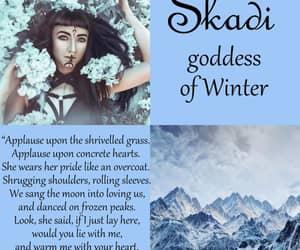christmas, goddess, and winter image
