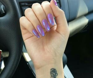 nails and violet image