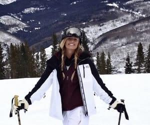 girl, Skiing, and fashion image