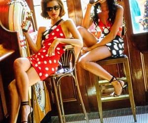 90s, fashion, and polkadots image