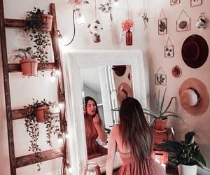 girls, home decor, and light image