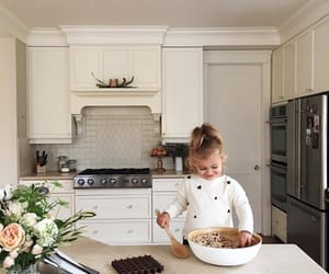 baby, cute, and kitchen image