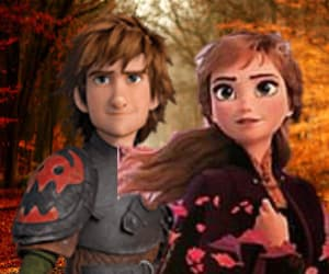 anna, hiccup, and frozen 2 image