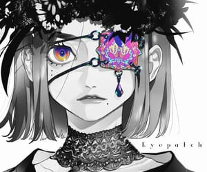artist, colorful, and eye patch image