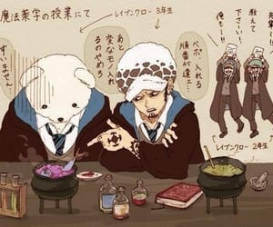 harry potter, Law, and one piece image