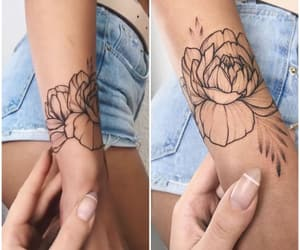 arm, girl, and tattoo image