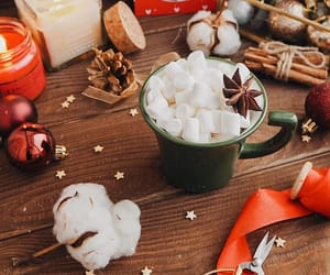 candle, coffee, and winter image