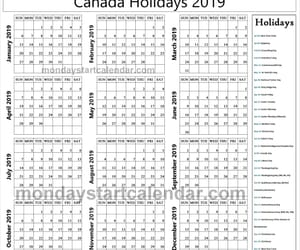 canada holiday list 2019 image