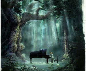 piano, alone, and boy image