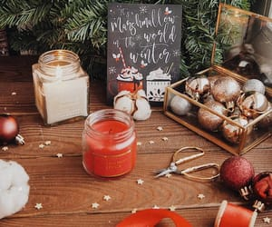 candle, christmas tree, and new year image